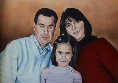Retrato de família a tinta de óleo sobre tela, 70x100cm, 2014